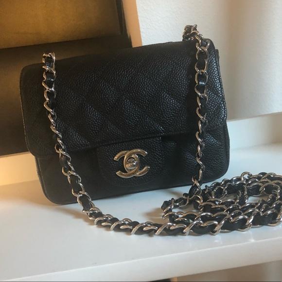 8d1c327cf964 CHANEL Bags | Sold Auth Caviar Square Mini Crossbody | Poshmark